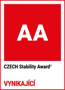 certifikát CZECH Stability Award